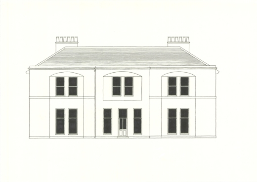 Mourne Park House drawn by Stuart Blakley