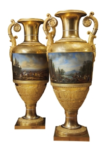 Pair of large Nicholai I vases at the Mayfair Gallery