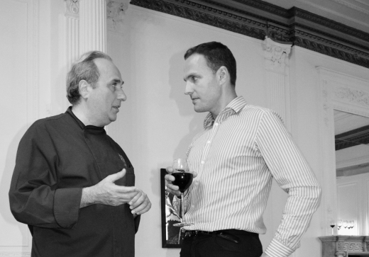 Chef Nino Mosca & Architect Ed Bucknall © Stuart Blakley