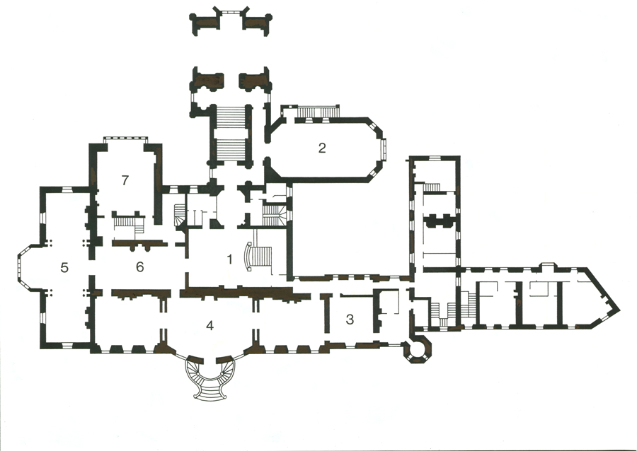 Grand staircase floor plans for Grand staircase floor plans