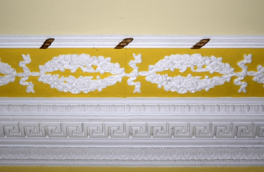 Castle Grove Yellow Drawing Room Cornice © Lavender's Blue Stuart Blakley