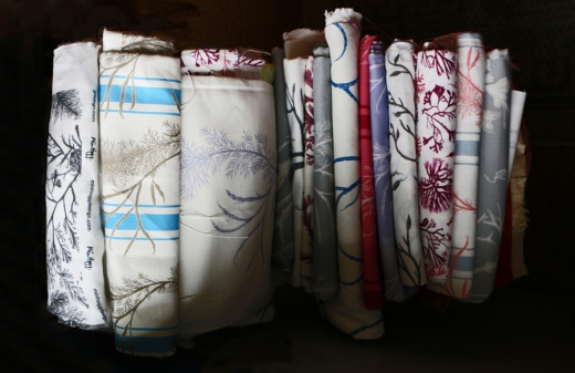 Min Hogg The World of Interiors Founder Seaweed Collection Fabrics © Lavender's Blue Stuart Blakley