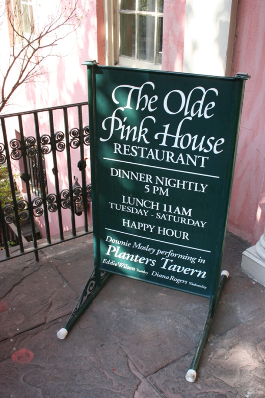 The Olde Pink House Savannah Sign © Lavender's Blue Stuart Blakley