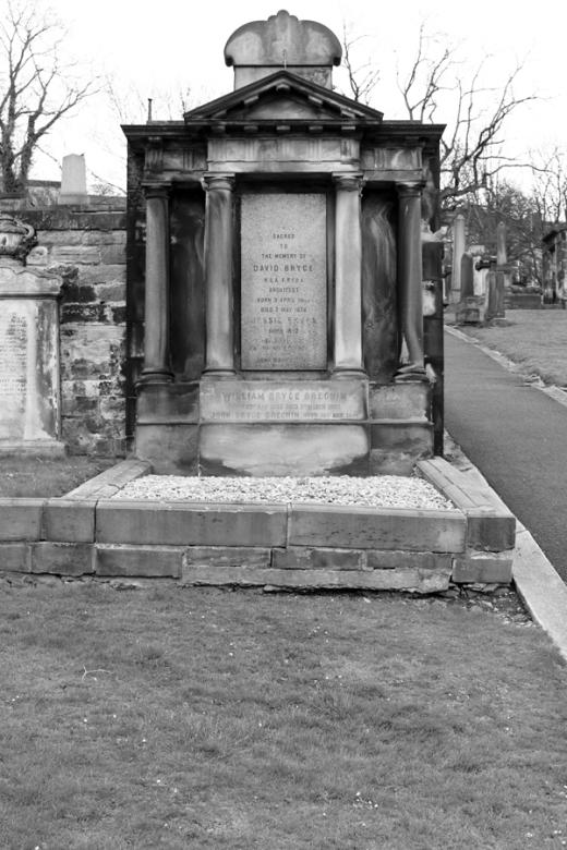 Architect David Bryce Tombstone Edinburgh © Lavender's Blue Stuart Blakley