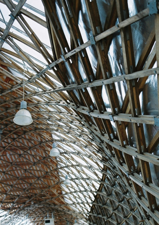 Downland Gridshell Building Interior by Cullinan Studio © Richard Learoyd