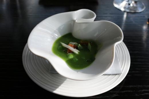 Fenchurch Restaurant Pea Soup © Lavender's Blue Stuart Blakley