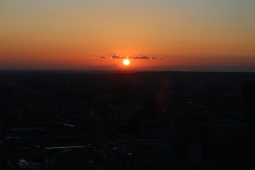 Fenchurch Restaurant Sunset © Lavender's Blue Stuart Blakley
