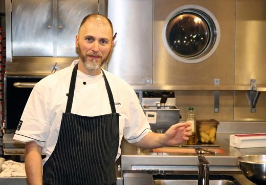Chef Le Channel Restaurant Calais Pudding © Lavender's Blue Stuart Blakley