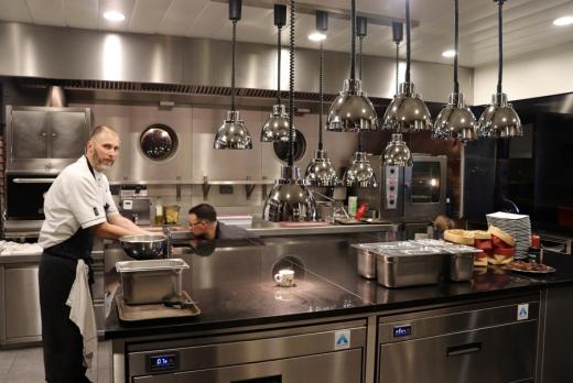 Le Channel Restaurant Calais Kitchen © Lavender's Blue Stuart Blakley