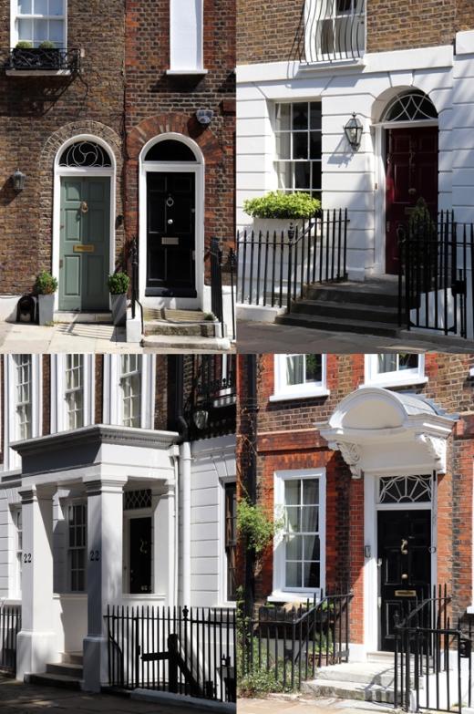 Cheyne Walk London Doors © Lavender's Blue Stuart Blakley