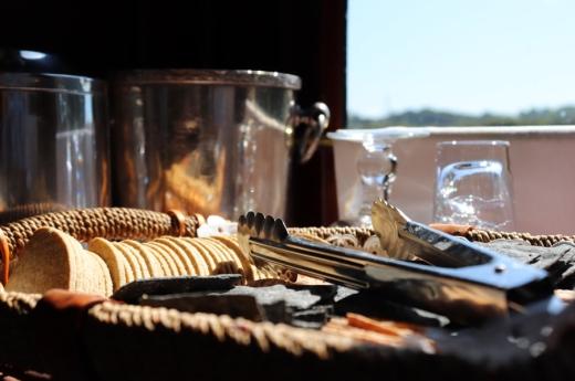Belmond British Pullman Murder Mystery Lunch Biscuits © Lavender's Blue Stuart Blakley