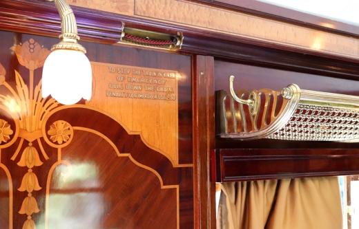 Belmond British Pullman Murder Mystery Lunch Rack © Lavender's Blue Stuart Blakley