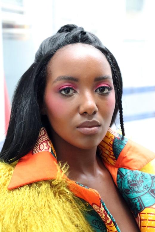 Model AFWL Africa Fashion Week London © Lavender's Blue Stuart Blakley