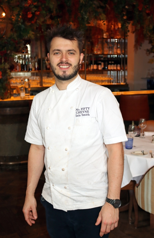 No.50 Cheyne Restaurant Chelsea Head Chef Iain Smith © Lavender's Blue Stuart Blakley