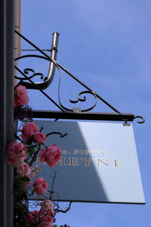 No.50 Cheyne Restaurant Chelsea Sign © Lavender's Blue Stuart Blakley