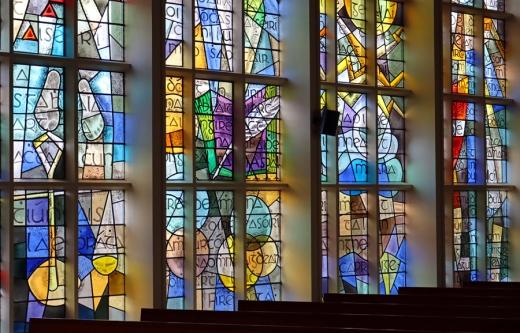 St Patrick's Church Murlog Donegal Stained Glass © Lavender's Blue Stuart Blakley