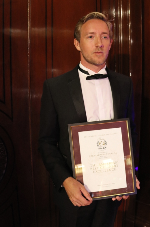 Abracadabra Pousada Winner World Boutique Hotel Awards Dinner © Lavender's Blue Stuart Blakley