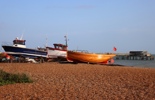 Deal Town Kent Boats © Lavender's Blue Stuart Blakley