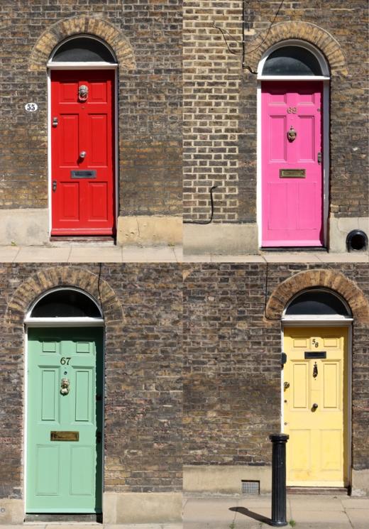 Roupell Street London Doors © Lavender's Blue Stuart Blakley