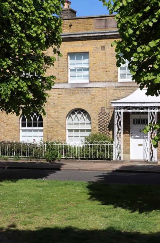 Courtenay Square Porches Duchy of Cornwall Kennington Estate © Lavender's Blue Stuart Blakley