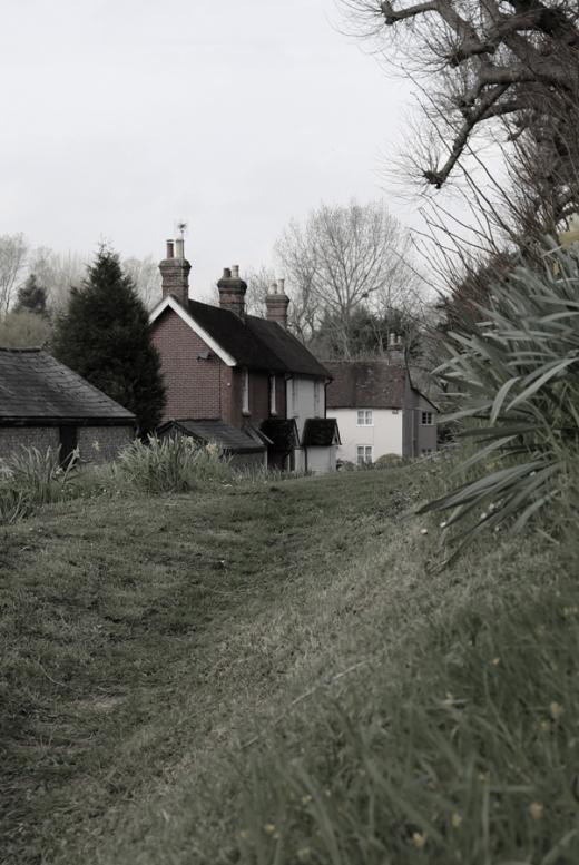 East Meon Village Valley © Lavender's Blue Stuart Blakley