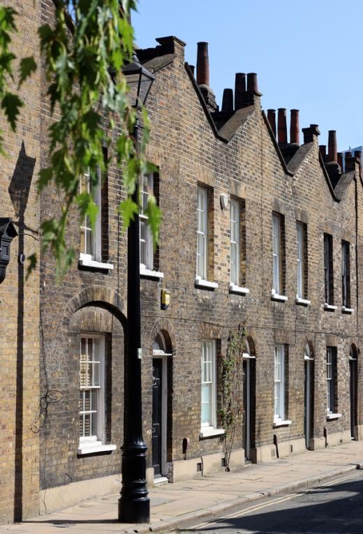Roupell Street Conservation Area Waterloo London Gables © Lavender's Blue Stuart Blakley