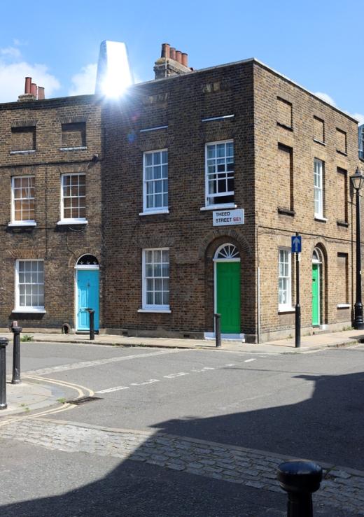Roupell Street Conservation Area Waterloo London Theed Street © Lavender's Blue Stuart Blakley