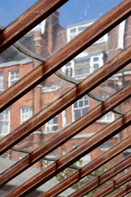 Glasshouse Roof Frame Chelsea Physic Garden London © Lavender's Blue Stuart Blakley