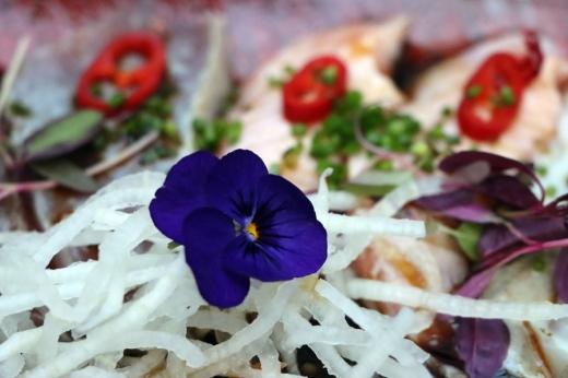 Kibou Japanese Restaurant Flower Northcote Road London © Lavender's Blue Stuart Blakley